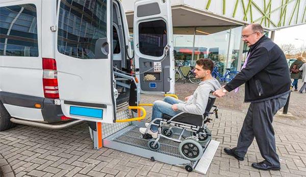 Wheelchair Van Trasnsport home