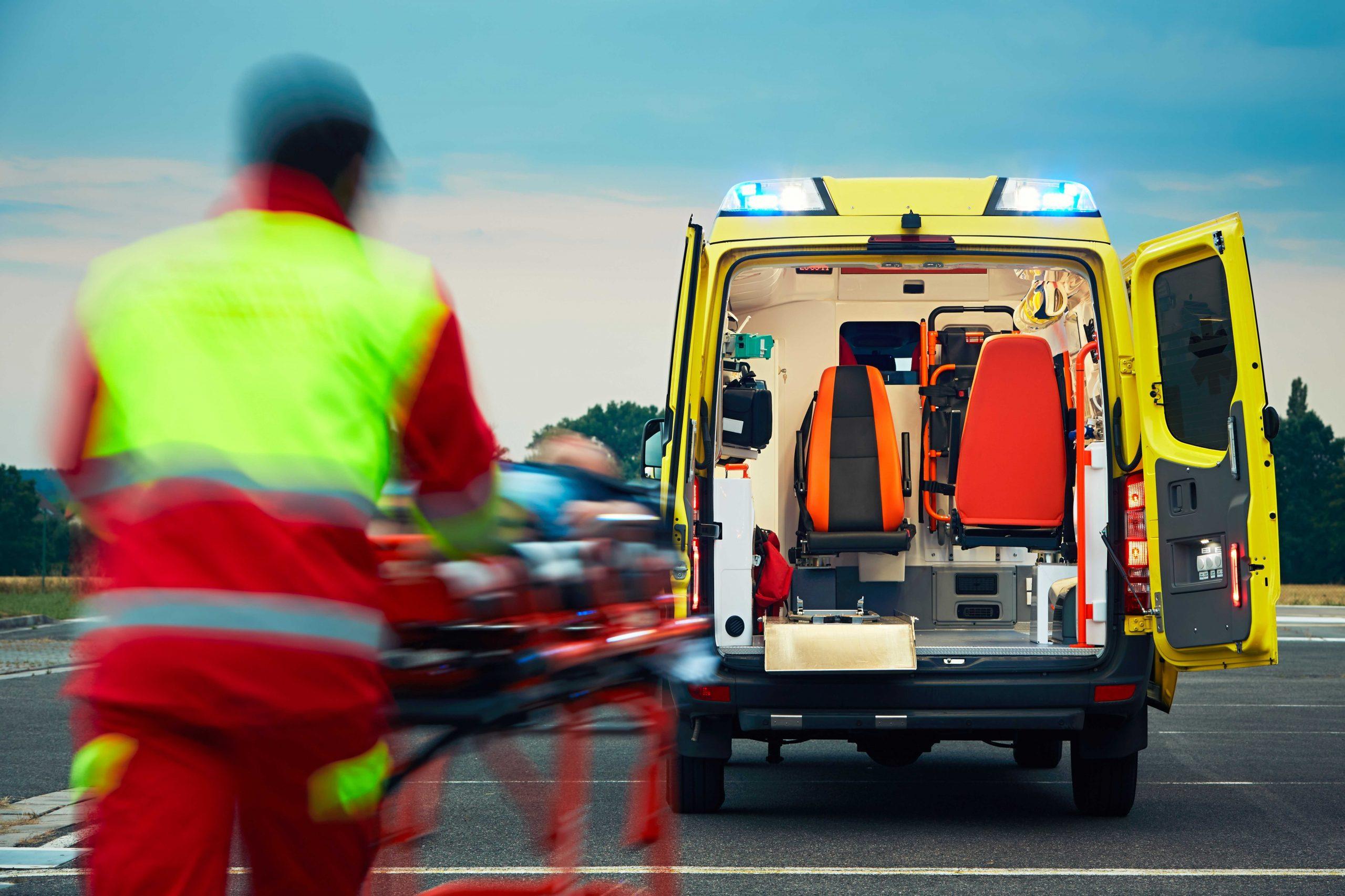 Ambulance USA Ambulance at Tarmac scaled